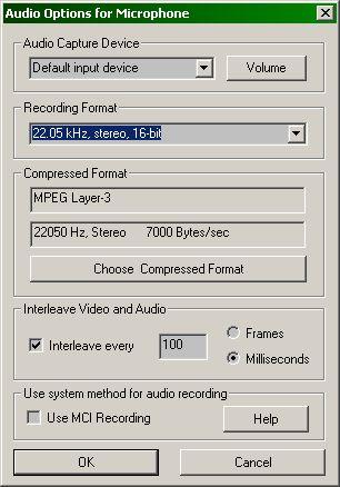 CamStudio audio settings (25k)