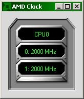 AMD Clock showing 2000 MHz