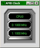 AMD Clock showing 1000 MHz
