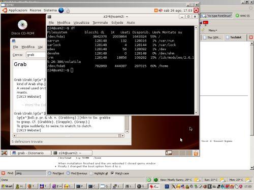 Ubuntu on Qemu (38k, link 125k)
