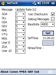 SirfTech Switch to NMEA Protocol