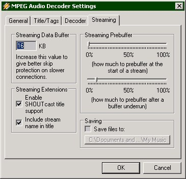 Client Winamp buffer settings (35 KB)