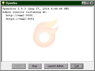 Openfire start window (20 KB)
