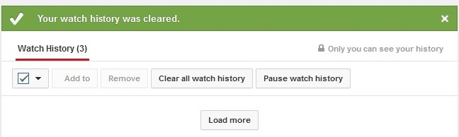 youtube Your watch history was cleared (19k)